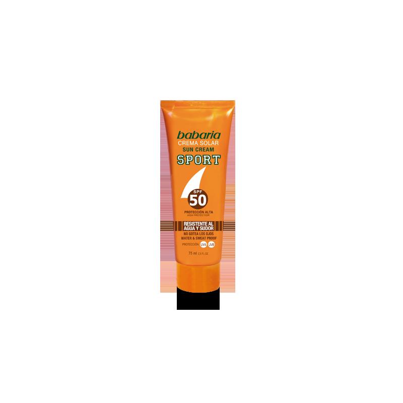 Crème solaire sport visage SPF50 à l'Aloe Vera